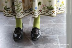 Norwegian traditional dress and shoes