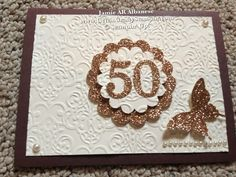 Anniversary card luxury ~ Kirika handmade luxury anniversary card