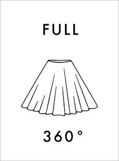 Select Full as Skirt Fullness