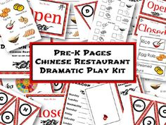 Printable Chinese Restaurant Dramatic Play Kit via www.pre-kpages.com