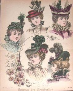 victorian headwear 1892 - Google Search