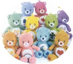 Discount Carebear 10 bears crochet Amigurumi by FunHandicraft, $3.50