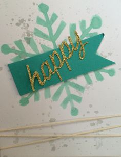 Stampin' Up! demonstrator Kat Z's project showing a fun alternate use for the Watercolor Winter Simply Created Card Kit.