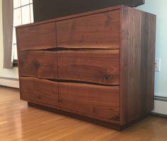 Live edge walnut dresser by AppalachianJoinery on Etsy