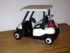 Fondant Cake Topper Golf Cart