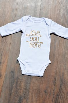 Love you more Onesie. Baby girl. Coming home by LittleLoviesChic