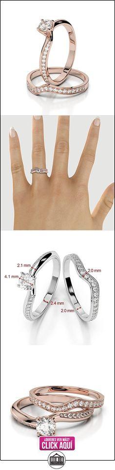 AG & Sons Hombre  750 Gold  oro rosa Round Brilliant Cut   G-H diamante  ✿ Joyas para hombres especiales - lujo ✿ ▬► Ver oferta: https://comprar.io/goto/B01I5F1YLK