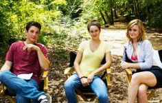 Miles Teller, Shailene Woodley and Brie Larson for The Spectacular Now Shannon Woodward, The Spectacular Now, Miles Teller, Brie Larson, Shailene Woodley, Live In The Now, On Set, Actors & Actresses, Couple Photos