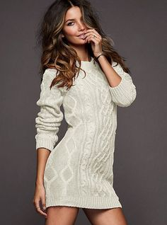 Slouchy Cable Sweaterdress #VictoriasSecret http://www.victoriassecret.com/clothing/dresses/slouchy-cable-sweaterdress?ProductID=6321=OLS?cm_mmc=pinterest-_-product-_-x-_-x