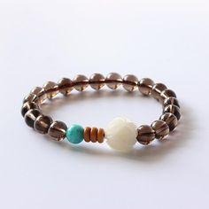 Give your wardrobe that mystical look when wearing the Yoga Bracelet, Strand Bracelet, Stretch Bracelets, Beaded Bracelets, Bangles, Necklaces, June Birth Stone, Healing Bracelets, Smoky Quartz