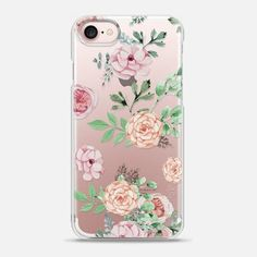 Casetify iPhone 7 Snap Case - Watercolor Flowers by Mint Corner