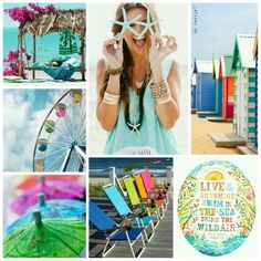 Live in the sunshine, swim in the sea, drink the wild air. #moodboard #mosaic #collage #inspirationboard #byJeetje♡