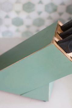 Painted Knife Holder | The Lettered Cottage