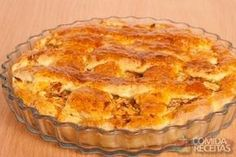 Receita de Torta suculenta de frango Juicy Chicken Pie Recipe on Salty Pie Recipes, Check this and other recipes here! Quiches, Pie Recipes, Cooking Recipes, Brazilian Dishes, Brazilian Recipes, Savory Tart, Portuguese Recipes, Love Food, Food And Drink