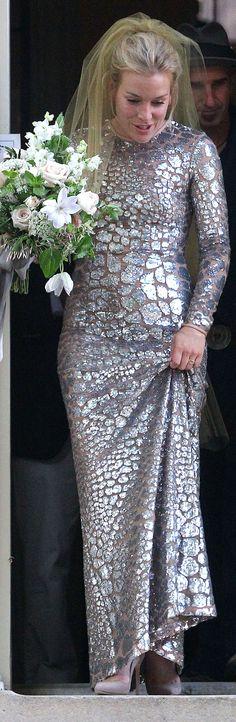 Piper Perabo's Michael Kors Wedding Dress