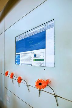 Lobby media wall - DIRTT Environmental Solutions - Accessories - http://www.homedecoz.com/interior-design/lobby-media-wall-dirtt-environmental-solutions-accessories/