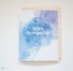 Encourage your loved ones with warm heart #HeavenleeDays #GreetingCard #Sympathy #Condolences #PaperGoods #EcoFriendly #RecycledPaper #Watercolour