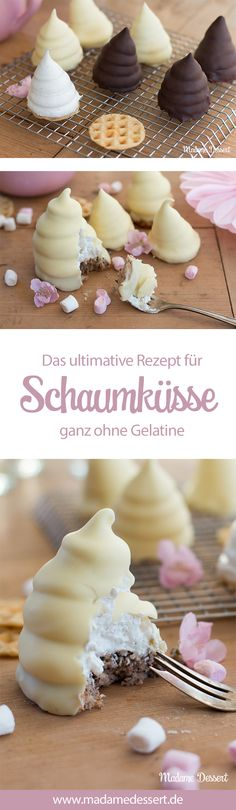 Schaumküsse ohne Gelatine – It's Partytime Cookie Recipes, Dessert Recipes, Recipes With Marshmallows, Snacks Für Party, Food Cakes, Cheese Recipes, Cakes And More, Chocolate Desserts, Sweet Recipes