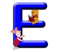 Abecedario Winnie the Pooh E Cute Alphabet, Monogram Alphabet, Alphabet And Numbers, Winnie The Pooh Birthday, Winnie The Pooh Friends, Decoupage, Quilling Letters, Pooh Bear, Tigger