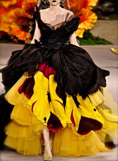Amazing bright dress of the Christian Dior Haute Couture Fall Winter 2010 2011 collection