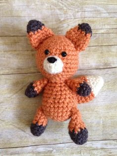 Mini Fox Newborn Prop Stuffie Includes safety eyes, not suitable for children under 3 years old without adult supervision.  Hand made by me in a smoke-free, pet-free home.  Made to Order.  See Shipping & Policies tab for current production time.