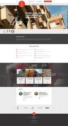 Diseño web para Servialt, empresa de trabajos verticales en Barcelona.  Desarrollo de la página corporativa de trabajos en altura en BCN