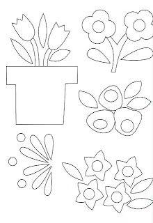 DANI PATCHWORK: Moldes de Flores