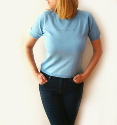 Vintage Top TRUSSARDI Jeans  Italian Blue by millyscollection