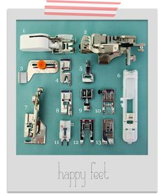 Finding Your Feet: sewing machine feet and their uses