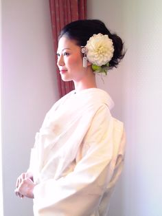 白無垢×洋髪スタイル