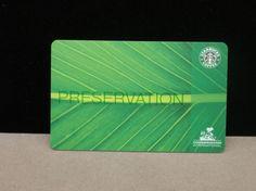 Starbucks Card: Preservation fundraising card. Fair trade. X