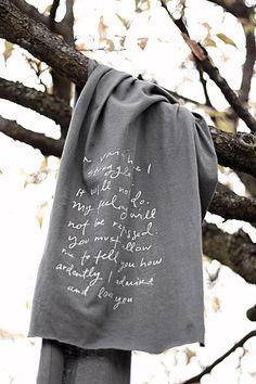 Mr. Darcy proposal scarf - Jane Austen - Valentine's Day