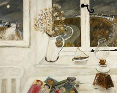 Gary Bunt - Catterline - oil on canvas Beehives, haystacks and daisies Fast approaching storms The wild seas of Catterline To which a painter's brush was drawn Different Forms Of Art, English Artists, Great Paintings, Art Uk, Naive Art, Art Music, Landscape Art, Figurative Art, Folk Art