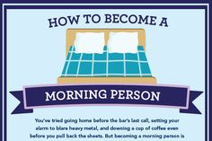Infographic: How to become a morning person Good Morning Text Messages, Morning Quotes For Him, Good Morning Texts, Morning Habits, Morning Person, Healthy Relationships, How To Become, Learning, Words