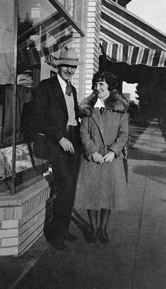 Walt Disney and his future wife, Lillian, stand in front of Disney Bros. Studio on Kingswell Ave. in February, 1925. The two met in 1924 when Lillian started working at Disney Bros. Studio as an inker. They were married on July 13, 1925. Credit: Courtesy of the Walt Disney Archives Photo Library