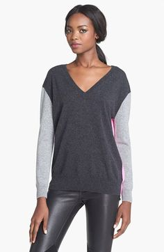 autumn cashmere Colorblock Cashmere Sweater available at #Nordstrom