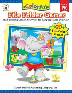 Colorful File Folder Games, Grade PK: Skill-Building Center Activities for Language Arts and Math by Debra Olson Pressnall, http://www.amazon.ca/dp/0887242685/ref=cm_sw_r_pi_dp_tj5Dtb126MJZS
