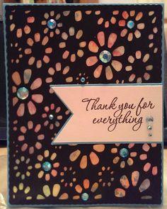 Thank you card using Cricut Edge to Edge cartridge.
