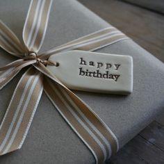 Ceramic small tags - happy birthday/thinking of you. etc Ceramic small tags - happy birthday/thinking of you. Diy Clay, Clay Crafts, Crafts To Make, Ceramic Jewelry, Ceramic Clay, Slab Pottery, Ceramic Pottery, Alphabet Pasta, Pottery Gifts