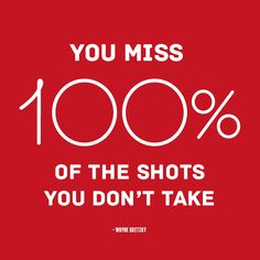 You Miss 100% Of Shots You Don'T Take #DailyInspiration #Quote #MeanignfulQuotes