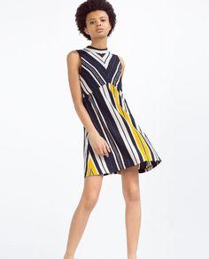ZARA - WOMAN - A-LINE STRIPED DRESS