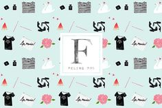 Seamless Fashion Pattern @creativework247