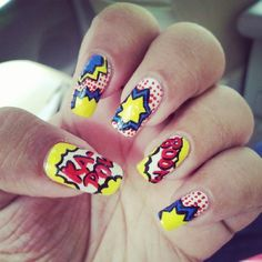 55 Comic Book Nail Designs