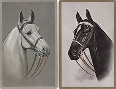 2 Pair Single Vintage Playing Swap Cards Horse Heads | eBay