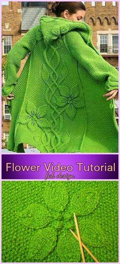 Poncho Knitting Patterns, Crochet Cardigan Pattern, Coat Patterns, Easy Knitting, Loom Knitting, Knitting Stitches, Knitting Designs, Knit Crochet, Knitted Coat Pattern