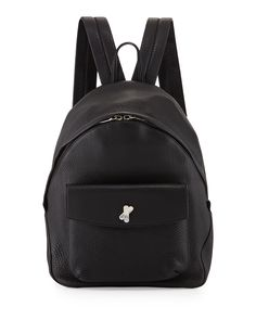 Icon Pebbled Leather Backpack, Black - Alexander Wang