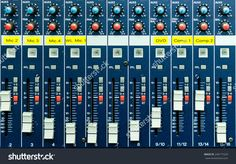 http://www.shutterstock.com/pic-240177229/stock-photo-buttons-and-tabs-in-various-parts-of-the-audio-controller.html?src=z1Js5wc…