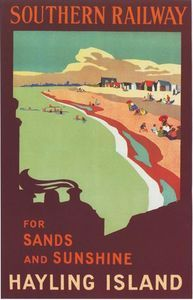 Vintage Southern Railway Hayling Island   Poster