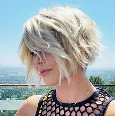 12 More Trendy New Short Hairstyles for 2016: #4. New Wavy Short Bob Hair