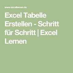 Excel Tabelle Erstellen - Schritt für Schritt | Excel Lernen